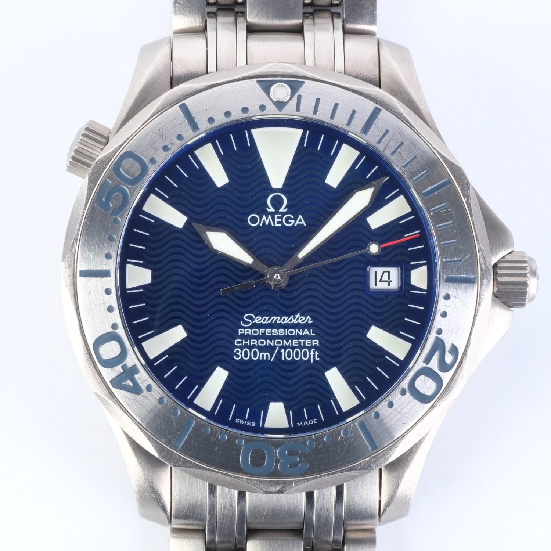 Omega Speedmaster 300M Titanium Blue Chronometer Ref 2231.80.00