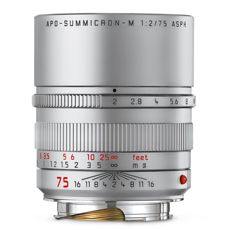 Leica 75mm f2 APO-Summicron-M Asph Silver Anodized