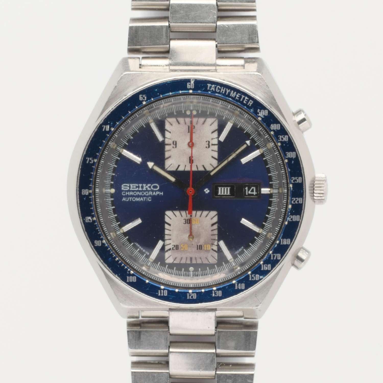 Seiko Kakume Automatic Chronograph Blue 581207