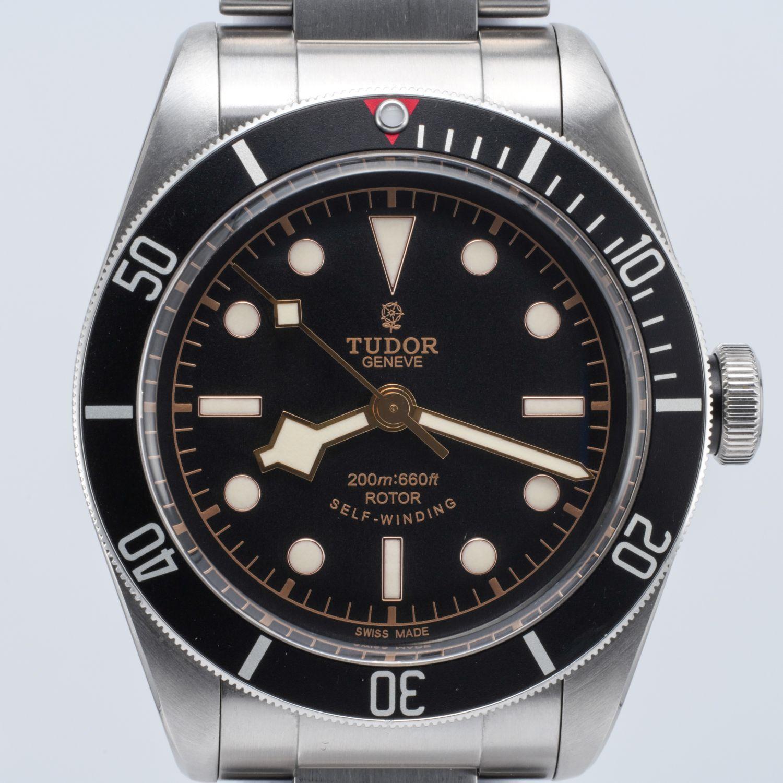 Tudor Black Bay Black, Rose Dial, Boxed I460080