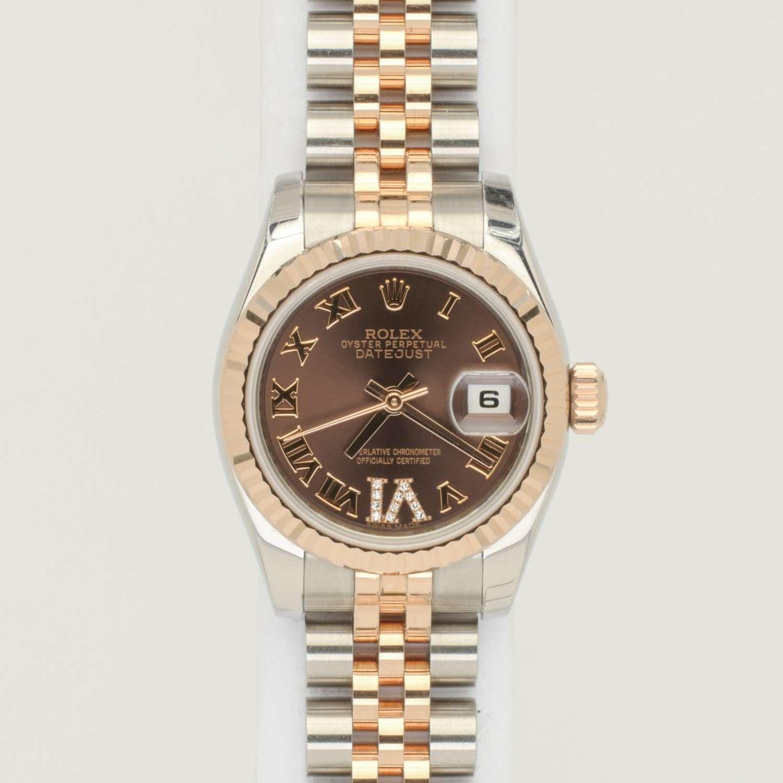 Rolex Ladies Datejust Everose Ref 179171
