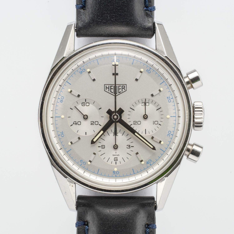 Heuer Carrera 1964 Re-Edition White Face CS3110  5892