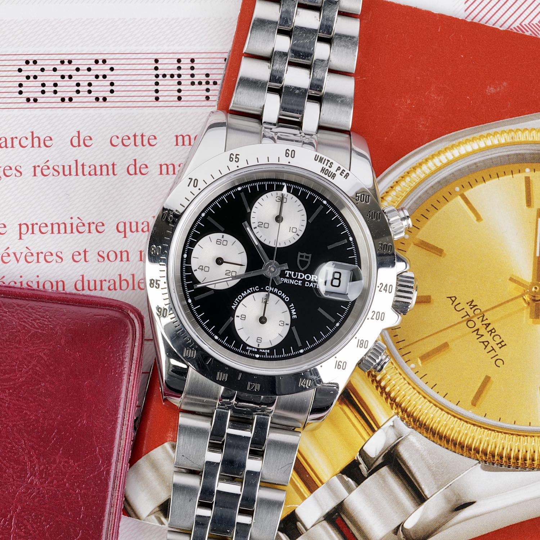 Tudor Prince Date Chronograph Reverse Panda Ref 79280P