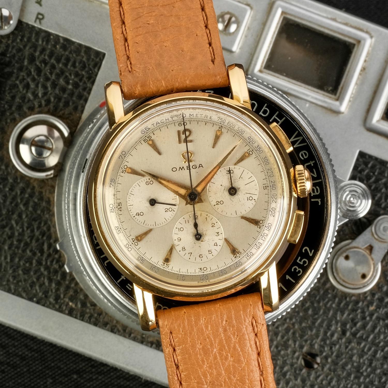 Omega Chronograph 14K 1947 Ref 2439